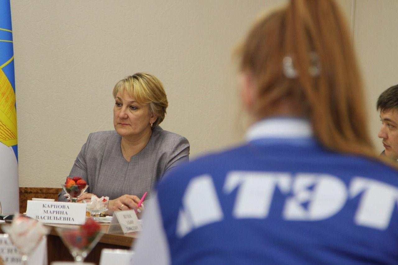Глава района Ильдус Зарипов встретился со студентами ЛТЭТ - победителями регионального этапа WorldSkills Russia